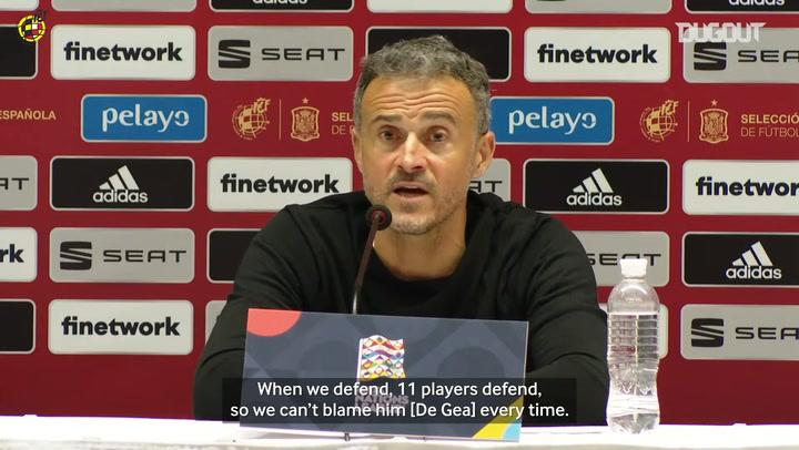 Luis Enrique: 'We can't blame De Gea every time'