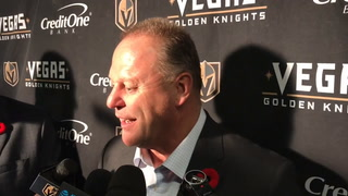 Gerard Gallant was happy to see Golden Knights earn one point in Toronto