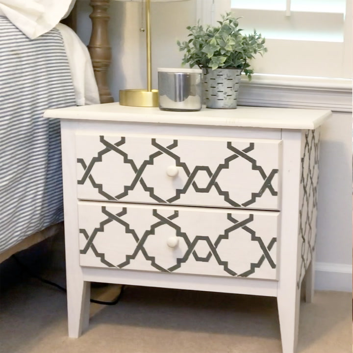 How To Make Textured Medium For Raised Stencils On Furniture