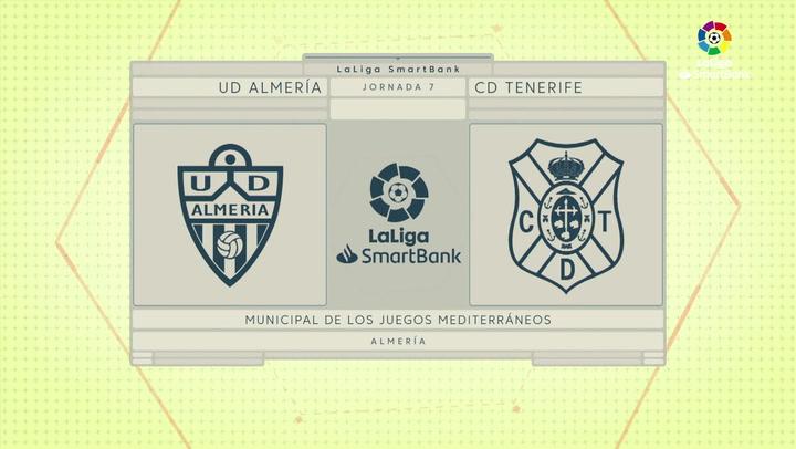 LaLiga SmartBank (J7): Resumen y goels del Almería 3-1 Tenerife