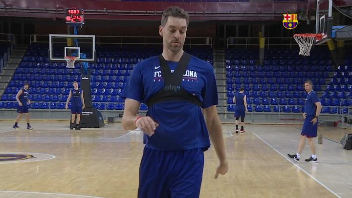 El Barça de basket se prepara para el duro duelo ante Unicaja