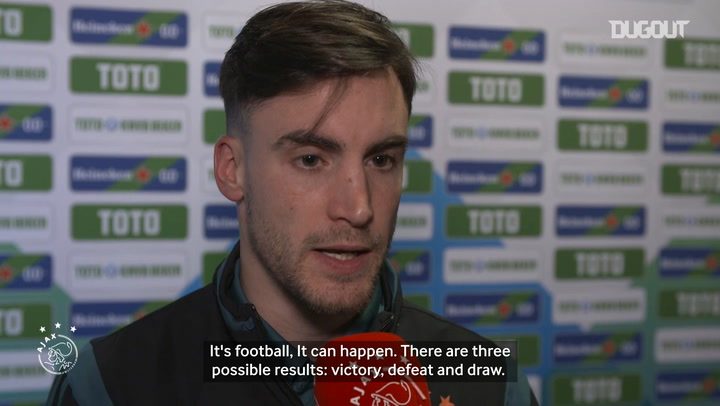 Nicolás Tagliafico on defeat to FC Utrecht in the KNVB Cup