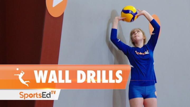 VOLLEYBALL WALL DRILLS