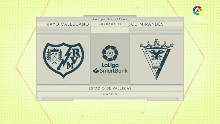 LaLiga SmartBank (J31): Resumen y gol del Rayo 0-1 Mirandés