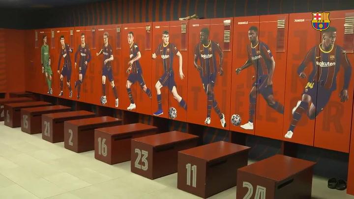 El Barça estrena nuevo diseño en el vestuario del Camp Nou