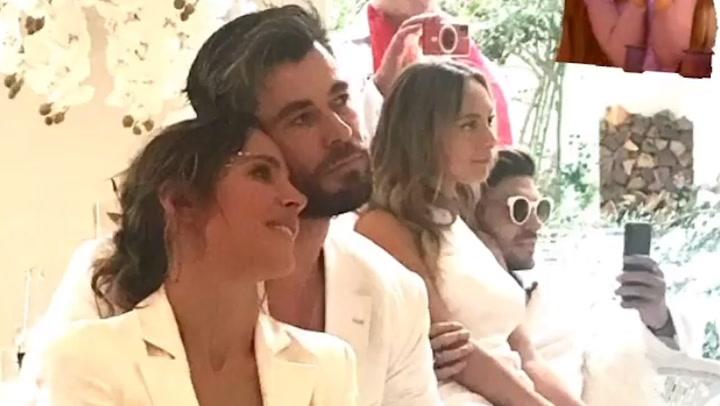 ¡Baile sexy y mucho romanticismo! Elsa Pataky y Chris Hemsworth disfrutan de una espectacular \'fiesta blanca\'