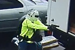 Las Vegas police look for masked armed robbery suspect