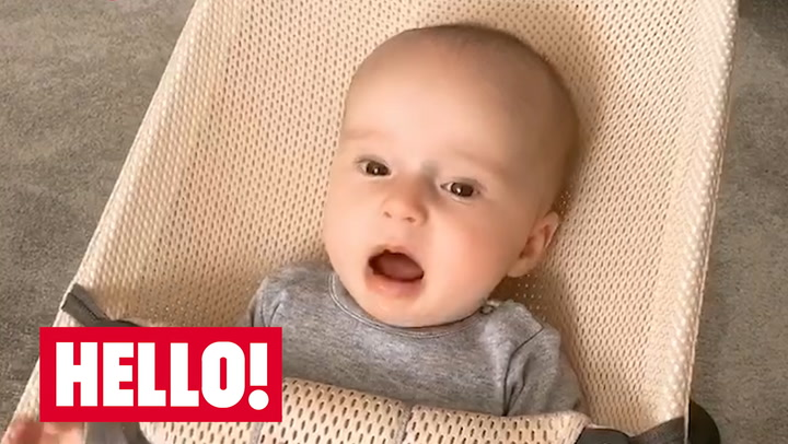 Little Ella is saying her first words in cute video