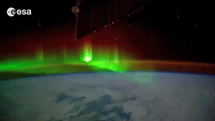 «Magisk» da romstasjonen fløy gjennom nordlys