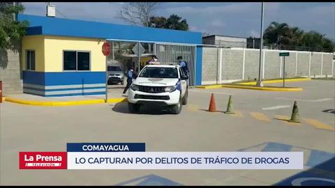 Lo capturan por delitos de tráfico de drogas en Comayagua