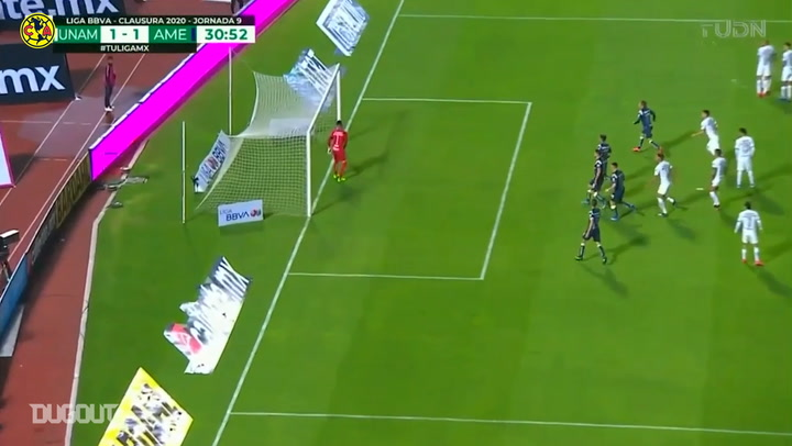 Leo Suárez's incredible free-kick vs Pumas UNAM
