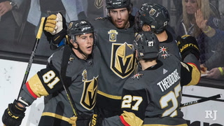 Golden Knights' Theodore on his game-winning goal