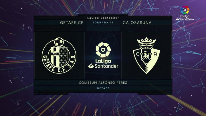 LaLiga Santander (J12): Resumen del Getafe 0-0 Osasuna