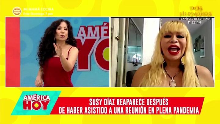 Susy Díaz y su molestia con Janet Barboza tras ser consultada sobre su asistencia en fiesta durante cuarentena
