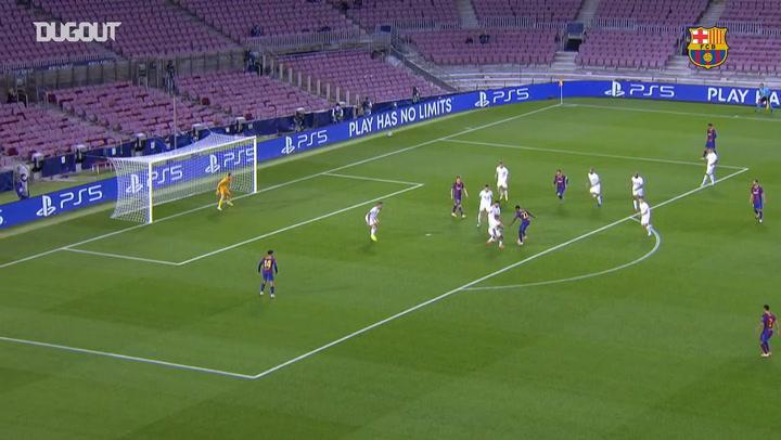 Ansu Fati's backheel assist vs Ferencvaros