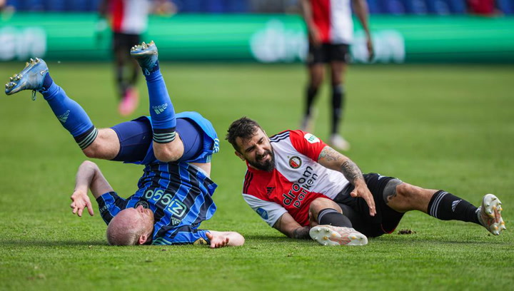 Escalofriante lesión de Pratto en el Feyenoord-Ajax