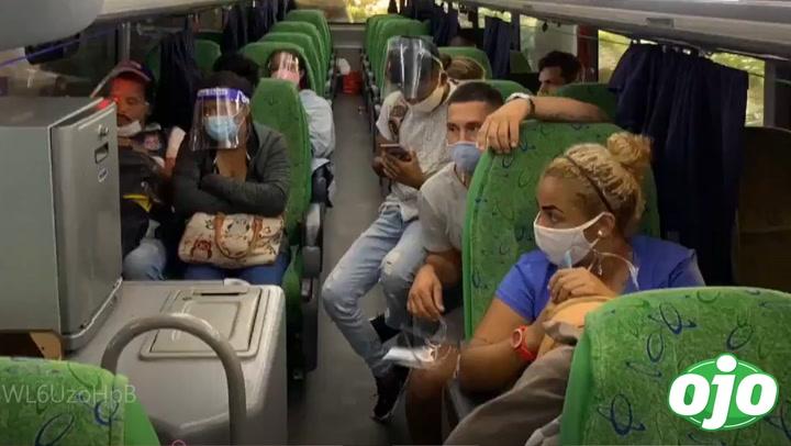 Intervienen bus lleno de venezolanos ilegales en Terminal Terrestre de Plaza Norte