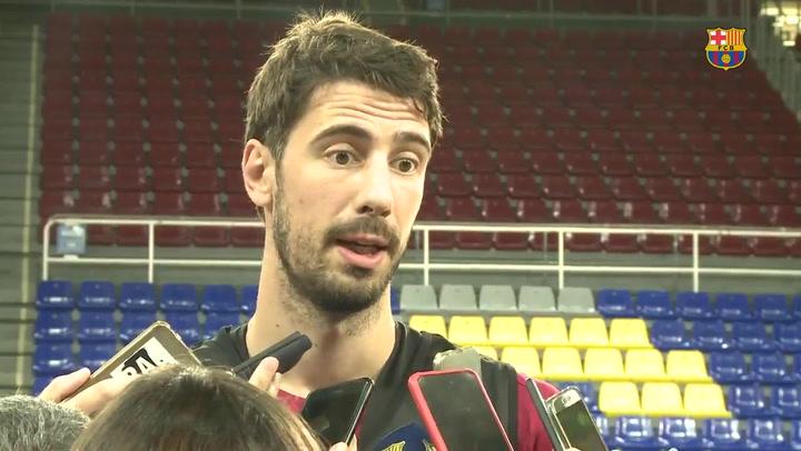 Declaraciones de Abrines y Ante Tomic en el segundo día de entrenamientos del Barça