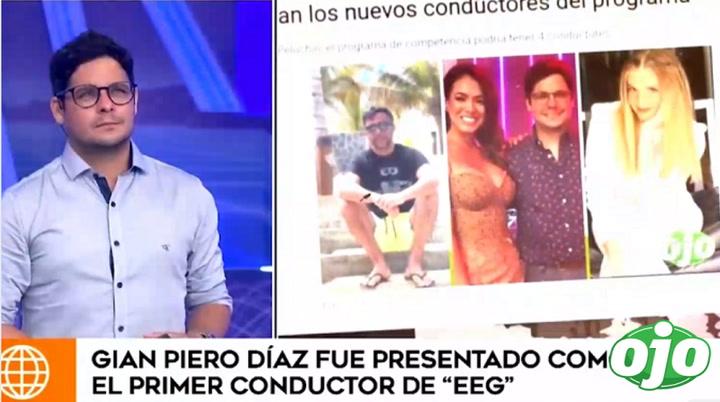 Gian Piero Díaz y su respuesta cuando le preguntan por Renzo Schuller y Johanna San Miguel | VIDEO