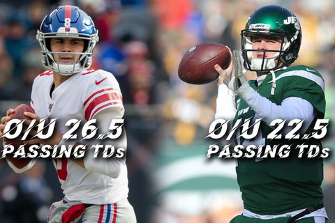 Jones and Darnold: What are the odds on passing TDs?