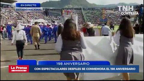 Con espectaculares desfiles se conmemora el 198 aniversario de Independencia de Honduras