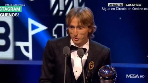 Luka Modric es elegido el mejor jugador FIFA del año