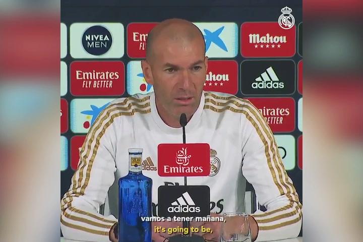 Entrenamiento del Real Madrid previo al partido contra el Osasuna