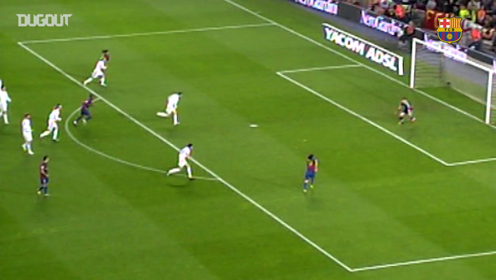 Lionel Messi's first-ever El Clásico Goal