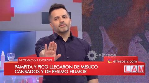 El secreto del mal humor de Pampita y Pico Mónaco al llegar de Cancún