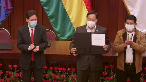 Presidente electo de Bolivia celebra la