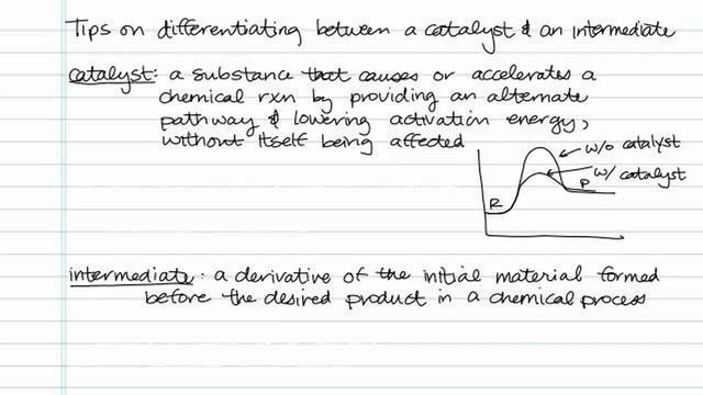 Tips on Differentiating Between a Catalyst and an Intermediate