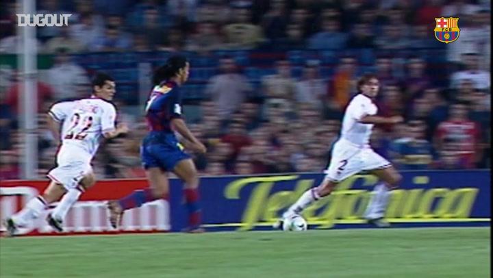 Incredible Goals: Ronaldinho Vs Sevilla