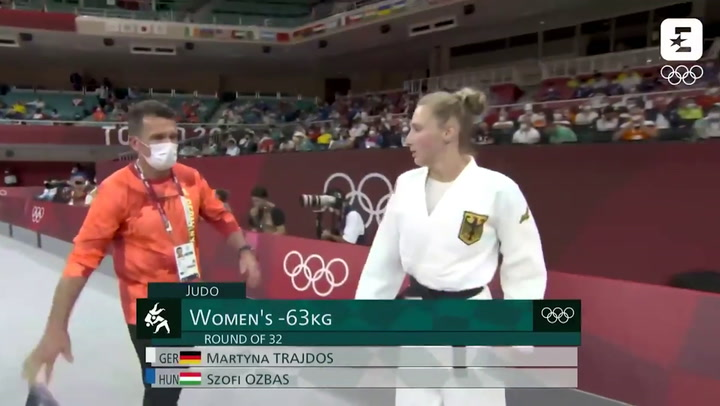 Olympic athlete slapped in face by coach in pre-fight 'ritual'