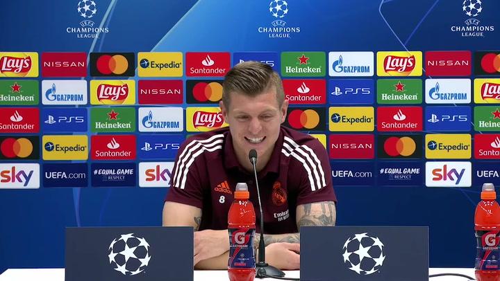 """Toni Kroos: """"¿Haaland o Mbappé? Eso es una pregunta para Florentino"""""""