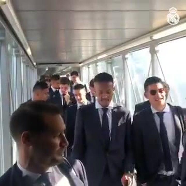 El Real Madrid ya está rumbo a París