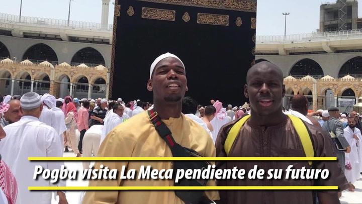 Pogba visita La Meca pendiente de su futuro