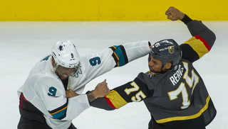 Sharks and Knights players get physical during game 3 – VIDEO