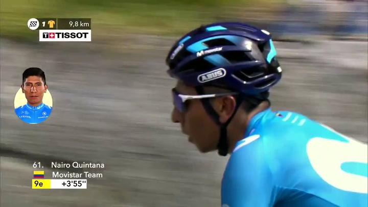 Hundimiento de Nairo Quintana en el ascenso al Tourmalet