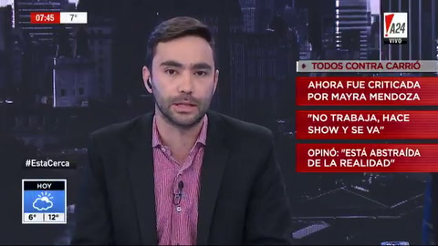 Dura crítica de Mayra Mendoza a Carrió: Grita, hace show y se va