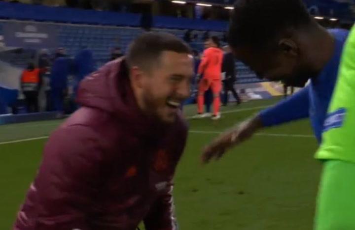 ¡Hazard se ríe junto a sus ex compañeros tras la eliminación del Real Madrid!