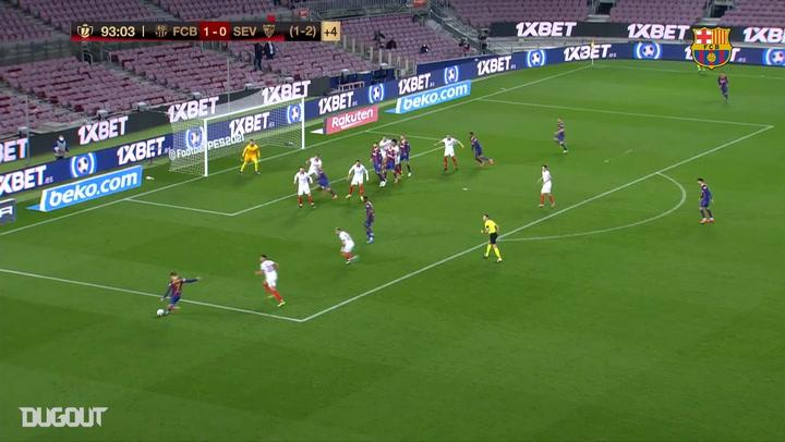 Gerard Pique's Last Minute Header vs Sevilla in Copa del Rey