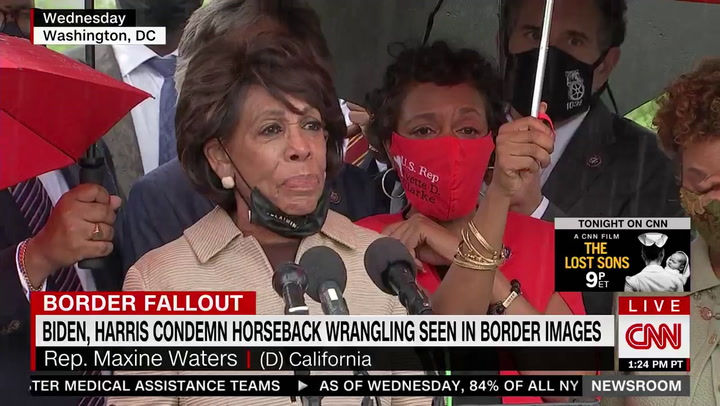Waters: Biden Should Know Better Than Having 'Horses Chasing Down Black People'