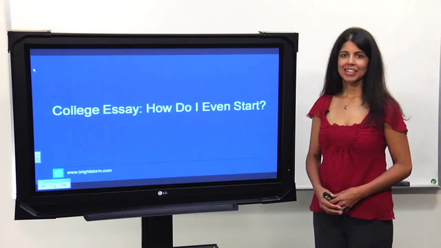 How do I start writing my college essay?