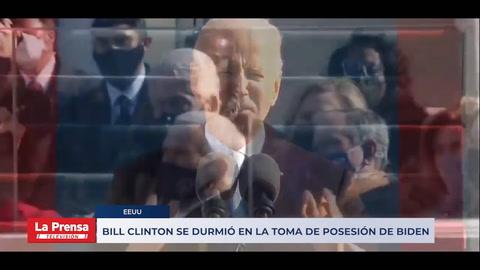 Bill Clinton se durmió en la toma de posesión de Biden
