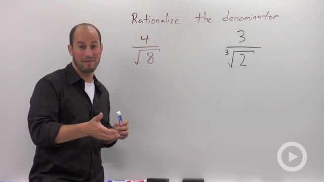 Rationalizing the Denominator with Higher Roots