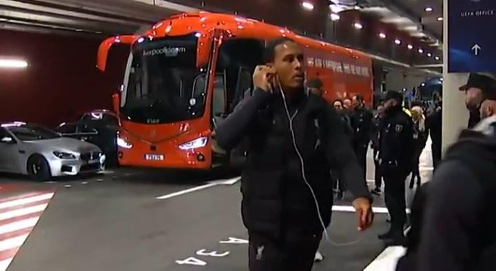 Los jugadores del Liverpool ya estan en el Metropolitano