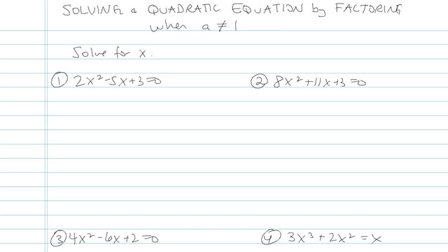 Solving Quadratic Equations by Factoring - Problem 6