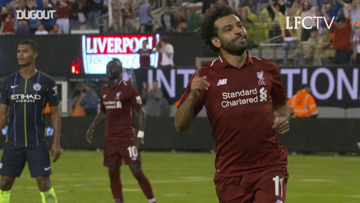 Salah scores after 52 seconds against Manchester City