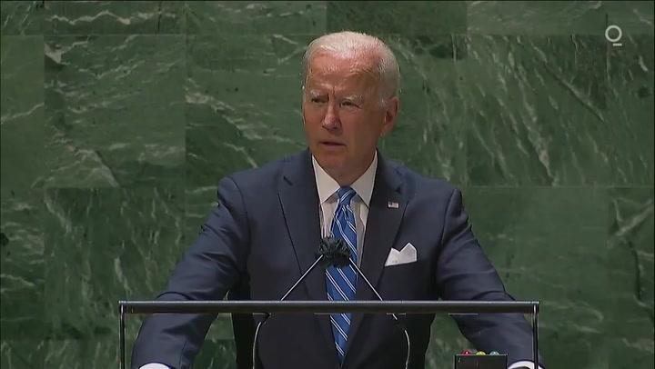 Biden says US is closing era of 'relentless war' in speech to UN