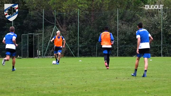 Sampdoria prepare to face Atalanta